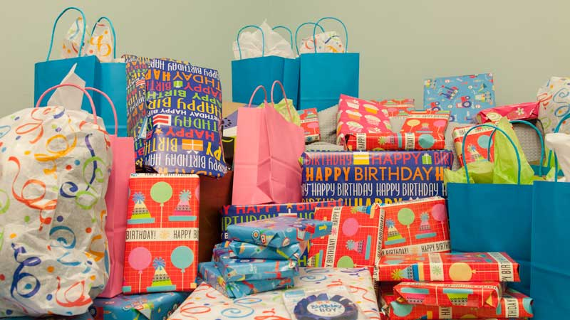 June Birthday Presents Wrapped