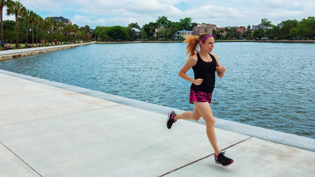 Michelle Knopp running in Charleston