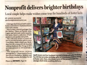 Birthdays For All Post and Courier Article